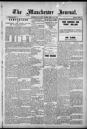 Primary view of object titled 'The Manchester Journal. (Manchester, Okla.), Vol. 16, No. 20, Ed. 1 Friday, October 16, 1908'.