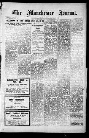 Primary view of object titled 'The Manchester Journal. (Manchester, Okla.), Vol. 15, No. 30, Ed. 1 Friday, December 27, 1907'.