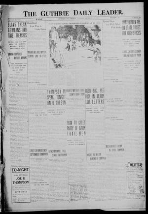 Primary view of object titled 'The Guthrie Daily Leader. (Guthrie, Okla.), Vol. 48, No. 98, Ed. 1 Tuesday, October 31, 1916'.
