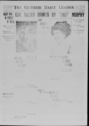 Primary view of object titled 'The Guthrie Daily Leader. (Guthrie, Okla.), Vol. 41, No. 27, Ed. 1 Wednesday, August 13, 1913'.