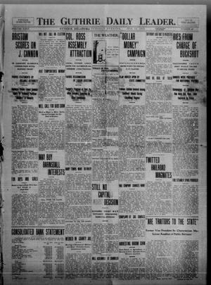 Primary view of object titled 'The Guthrie Daily Leader. (Guthrie, Okla.), Vol. 35, No. 40, Ed. 1 Tuesday, July 19, 1910'.