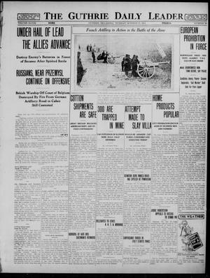 Primary view of The Guthrie Daily Leader (Guthrie, Okla.), Vol. 48, No. 90, Ed. 1 Tuesday, October 27, 1914