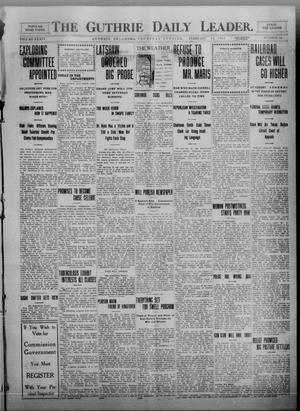 Primary view of object titled 'The Guthrie Daily Leader. (Guthrie, Okla.), Vol. 34, No. 64, Ed. 1 Thursday, February 10, 1910'.
