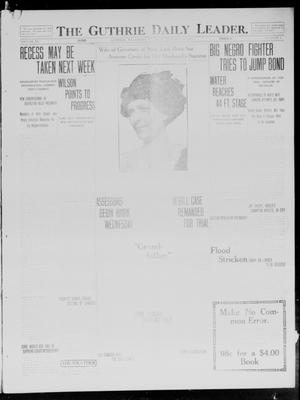 Primary view of object titled 'The Guthrie Daily Leader. (Guthrie, Okla.), Vol. 40, No. 6, Ed. 1 Tuesday, January 14, 1913'.