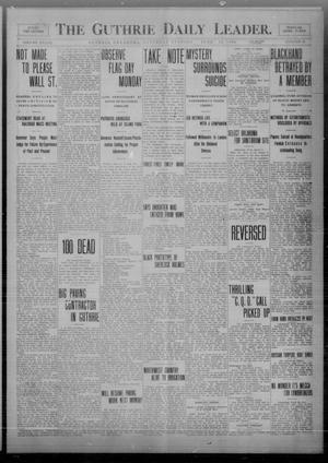 Primary view of object titled 'The Guthrie Daily Leader. (Guthrie, Okla.), Vol. 33, No. 16, Ed. 1 Saturday, June 12, 1909'.