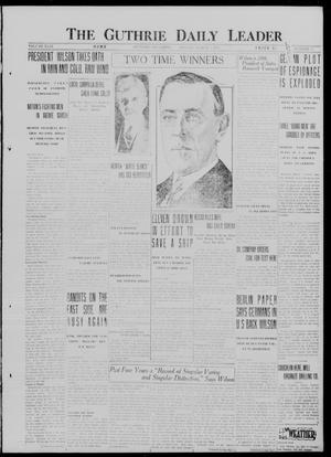 Primary view of object titled 'The Guthrie Daily Leader. (Guthrie, Okla.), Vol. 49, No. 37, Ed. 1 Monday, March 5, 1917'.