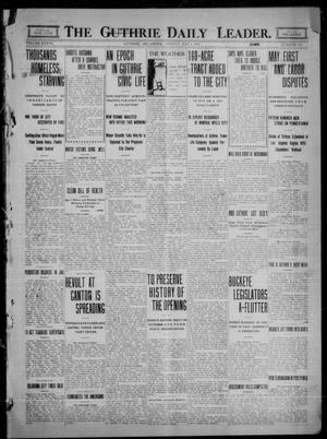 Primary view of object titled 'The Guthrie Daily Leader. (Guthrie, Okla.), Vol. 36, No. 115, Ed. 1 Monday, May 1, 1911'.