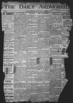 Primary view of The Daily Ardmoreite. (Ardmore, Indian Terr.), Vol. 1, No. 30, Ed. 1 Friday, December 1, 1893