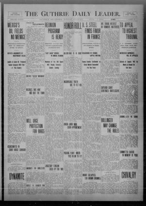 Primary view of object titled 'The Guthrie Daily Leader. (Guthrie, Okla.), Vol. 33, No. 11, Ed. 1 Monday, June 7, 1909'.
