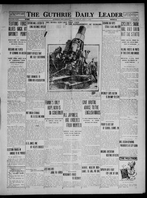 Primary view of object titled 'The Guthrie Daily Leader (Guthrie, Okla.), Vol. 49, No. 96, Ed. 1 Thursday, May 6, 1915'.