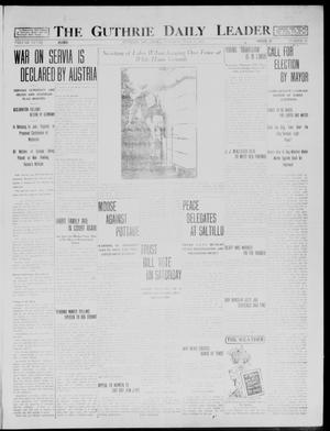 Primary view of object titled 'The Guthrie Daily Leader (Guthrie, Okla.), Vol. 48, No. 15, Ed. 1 Tuesday, July 28, 1914'.