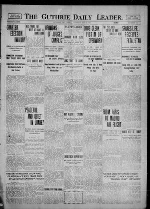 Primary view of object titled 'The Guthrie Daily Leader. (Guthrie, Okla.), Vol. 36, No. 134, Ed. 1 Tuesday, May 23, 1911'.