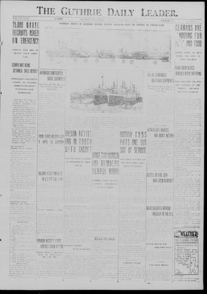 Primary view of object titled 'The Guthrie Daily Leader. (Guthrie, Okla.), Vol. 49, No. 22, Ed. 1 Friday, February 9, 1917'.