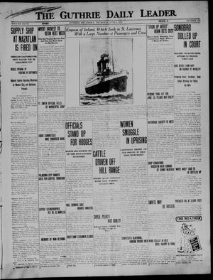 Primary view of object titled 'The Guthrie Daily Leader. (Guthrie, Okla.), Vol. 47, No. 124, Ed. 1 Thursday, June 4, 1914'.