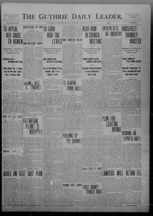 Primary view of object titled 'The Guthrie Daily Leader. (Guthrie, Okla.), Vol. 32, No. 41, Ed. 1 Friday, January 8, 1909'.