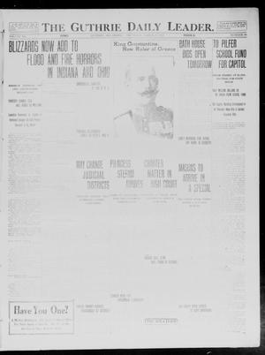 Primary view of object titled 'The Guthrie Daily Leader. (Guthrie, Okla.), Vol. 40, No. 66, Ed. 1 Thursday, March 27, 1913'.