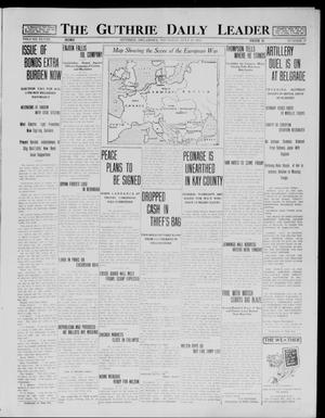 Primary view of object titled 'The Guthrie Daily Leader (Guthrie, Okla.), Vol. 48, No. 17, Ed. 1 Thursday, July 30, 1914'.