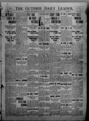 Primary view of object titled 'The Guthrie Daily Leader. (Guthrie, Okla.), Vol. 35, No. 30, Ed. 1 Wednesday, July 6, 1910'.