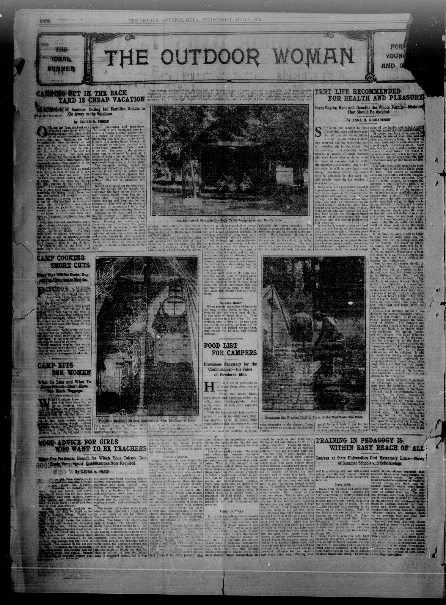 The Guthrie Daily Leader. (Guthrie, Okla.), Vol. 35, No. 30, Ed. 1 Wednesday, July 6, 1910                                                                                                      [Sequence #]: 2 of 8
