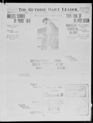 Primary view of object titled 'The Guthrie Daily Leader. (Guthrie, Okla.), Vol. 40, No. 7, Ed. 1 Wednesday, January 15, 1913'.