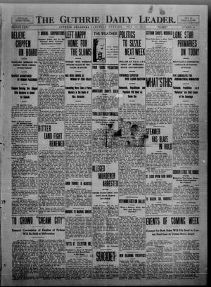 Primary view of object titled 'The Guthrie Daily Leader. (Guthrie, Okla.), Vol. 35, No. 44, Ed. 1 Saturday, July 23, 1910'.