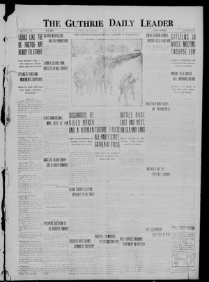 Primary view of object titled 'The Guthrie Daily Leader (Guthrie, Okla.), Vol. 50, No. 100, Ed. 1 Friday, May 12, 1916'.