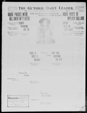 Primary view of object titled 'The Guthrie Daily Leader. (Guthrie, Okla.), Vol. 40, No. 44, Ed. 1 Saturday, March 1, 1913'.