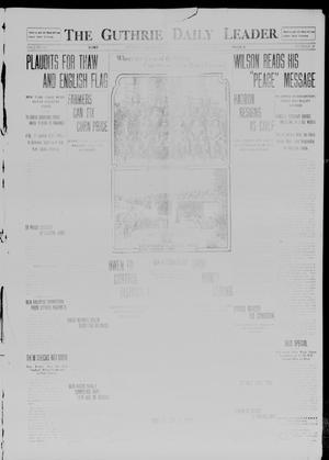 Primary view of object titled 'The Guthrie Daily Leader. (Guthrie, Okla.), Vol. 41, No. 39, Ed. 1 Wednesday, August 27, 1913'.