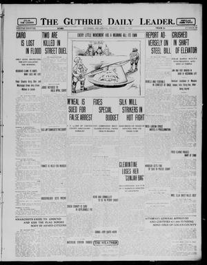 Primary view of object titled 'The Guthrie Daily Leader. (Guthrie, Okla.), Vol. 38, No. 88, Ed. 1 Friday, April 5, 1912'.