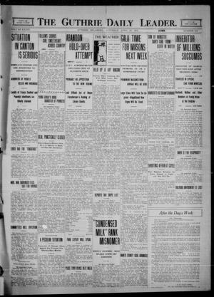 Primary view of object titled 'The Guthrie Daily Leader. (Guthrie, Okla.), Vol. 36, No. 114, Ed. 1 Saturday, April 29, 1911'.