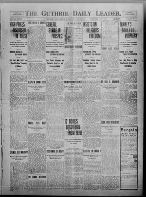 Primary view of object titled 'The Guthrie Daily Leader. (Guthrie, Okla.), Vol. 34, No. 79, Ed. 1 Monday, February 28, 1910'.