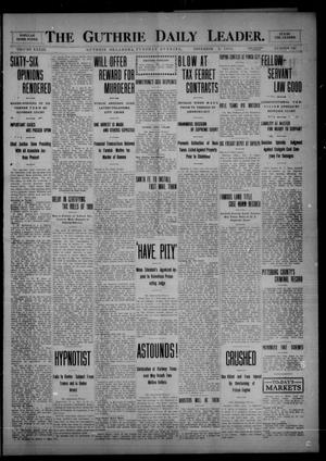 Primary view of object titled 'The Guthrie Daily Leader. (Guthrie, Okla.), Vol. 33, No. 143, Ed. 1 Tuesday, November 9, 1909'.