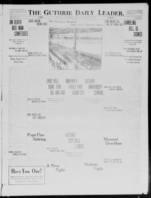Primary view of object titled 'The Guthrie Daily Leader. (Guthrie, Okla.), Vol. 40, No. 83, Ed. 1 Wednesday, April 16, 1913'.