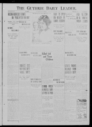 Primary view of object titled 'The Guthrie Daily Leader. (Guthrie, Okla.), Vol. 49, No. 8, Ed. 1 Monday, January 22, 1917'.