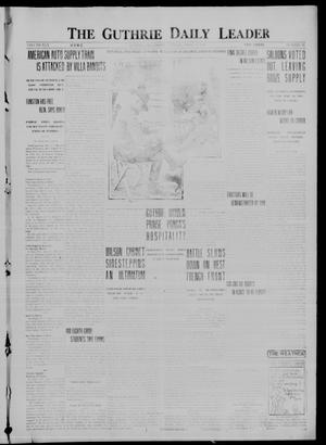 Primary view of object titled 'The Guthrie Daily Leader (Guthrie, Okla.), Vol. 50, No. 76, Ed. 1 Friday, April 14, 1916'.