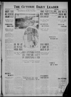 Primary view of object titled 'The Guthrie Daily Leader (Guthrie, Okla.), Vol. 50, No. 17, Ed. 1 Tuesday, February 8, 1916'.
