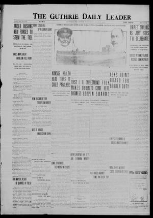 Primary view of object titled 'The Guthrie Daily Leader (Guthrie, Okla.), Vol. 48, No. 7, Ed. 1 Saturday, July 15, 1916'.