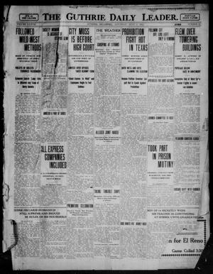 Primary view of object titled 'The Guthrie Daily Leader. (Guthrie, Okla.), Vol. 37, No. 11, Ed. 1 Saturday, July 1, 1911'.