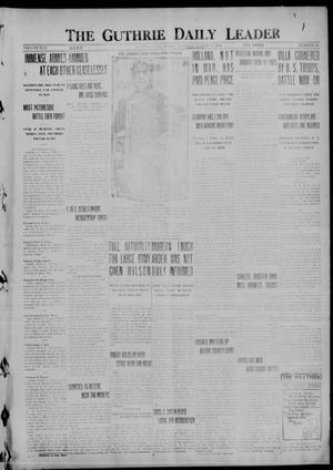 Primary view of object titled 'The Guthrie Daily Leader (Guthrie, Okla.), Vol. 50, No. 54, Ed. 1 Tuesday, March 21, 1916'.