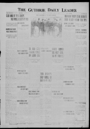Primary view of object titled 'The Guthrie Daily Leader (Guthrie, Okla.), Vol. 50, No. 83, Ed. 1 Saturday, April 22, 1916'.