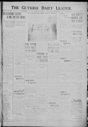 Primary view of object titled 'The Guthrie Daily Leader. (Guthrie, Okla.), Vol. 48, No. 141, Ed. 1 Thursday, December 21, 1916'.