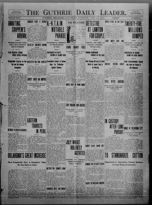 Primary view of object titled 'The Guthrie Daily Leader. (Guthrie, Okla.), Vol. 35, No. 50, Ed. 1 Saturday, July 30, 1910'.