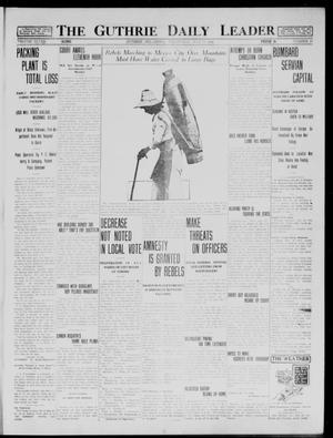 Primary view of object titled 'The Guthrie Daily Leader (Guthrie, Okla.), Vol. 48, No. 16, Ed. 1 Wednesday, July 29, 1914'.
