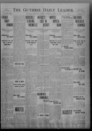 Primary view of object titled 'The Guthrie Daily Leader. (Guthrie, Okla.), Vol. 32, No. 103, Ed. 1 Monday, March 22, 1909'.