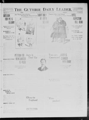 Primary view of object titled 'The Guthrie Daily Leader. (Guthrie, Okla.), Vol. 40, No. 50, Ed. 1 Saturday, March 8, 1913'.