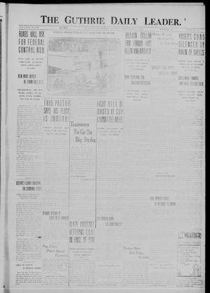 Primary view of object titled 'The Guthrie Daily Leader. (Guthrie, Okla.), Vol. 48, No. 109, Ed. 1 Monday, November 13, 1916'.
