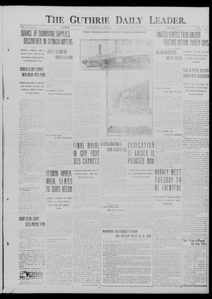 Primary view of object titled 'The Guthrie Daily Leader. (Guthrie, Okla.), Vol. 49, No. 54, Ed. 1 Saturday, March 24, 1917'.