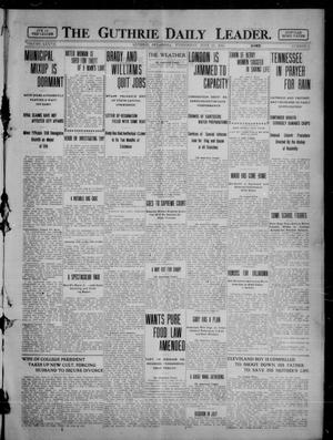 Primary view of object titled 'The Guthrie Daily Leader. (Guthrie, Okla.), Vol. 37, No. 2, Ed. 1 Wednesday, June 21, 1911'.