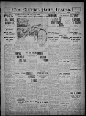 Primary view of object titled 'The Guthrie Daily Leader. (Guthrie, Okla.), Vol. 36, No. 13, Ed. 1 Tuesday, December 20, 1910'.