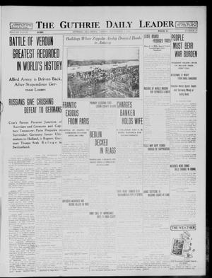 Primary view of object titled 'The Guthrie Daily Leader (Guthrie, Okla.), Vol. 48, No. 47, Ed. 1 Friday, September 4, 1914'.